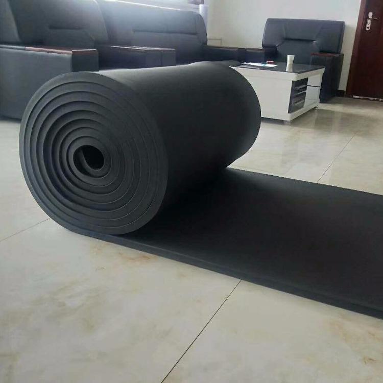 通遼橡塑板價格 保溫橡塑板 黑色橡塑海綿板規格