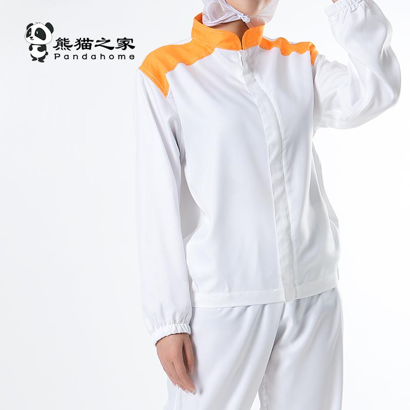 成都食品工作服廠家熊貓之家拼色工作服吸汗好洗透氣