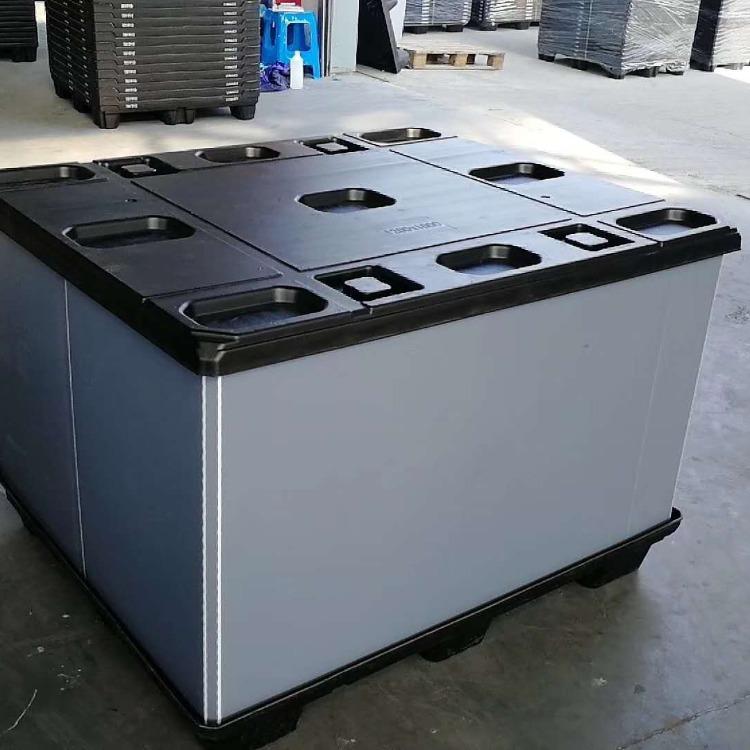 吹塑圍板箱天地蓋蜂窩板包裝箱汽配物流箱中空板天地蓋托盤廠家批發