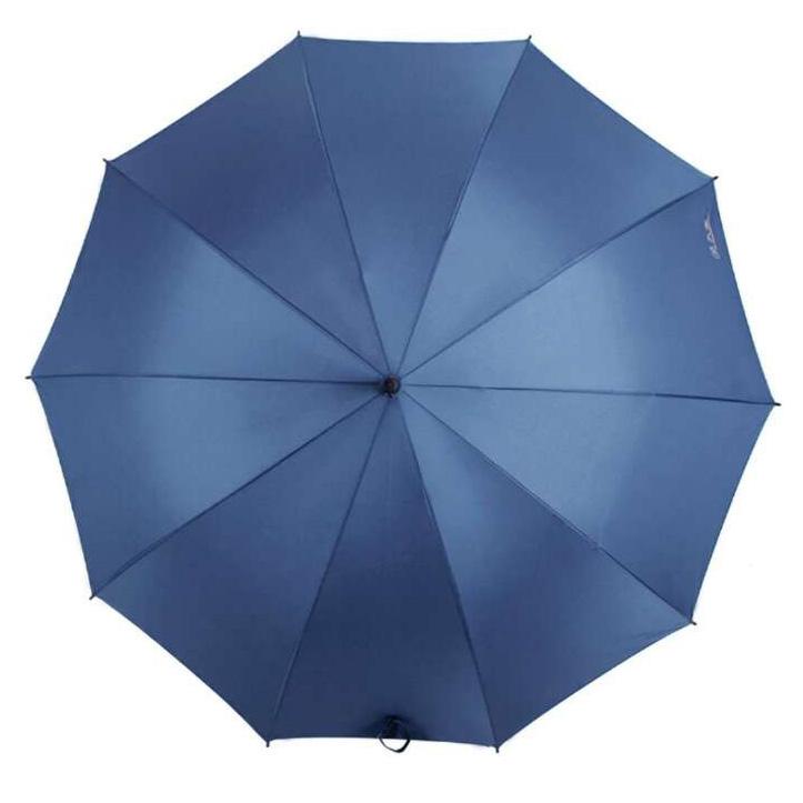 明捷193E碰擊布加大加固直桿自開商務晴雨傘