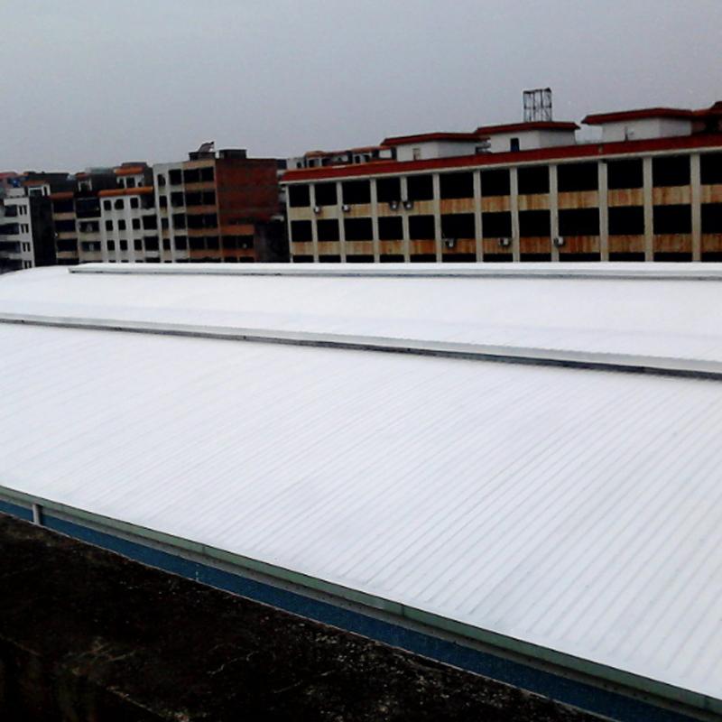 廠家批發屋頂彩鋼板房屋面內外墻耐高溫反射隔熱涂料防曬降溫材料