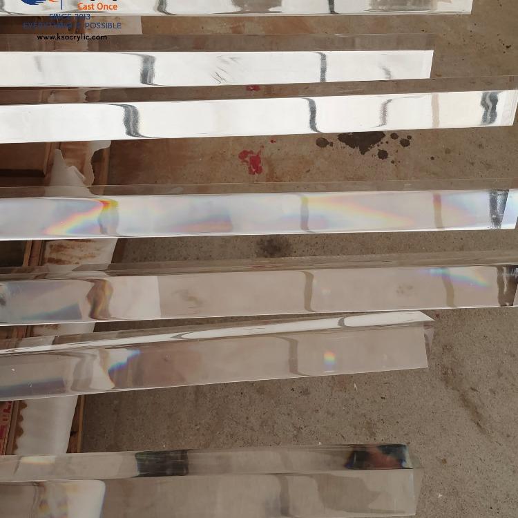 澆鑄三角棒制品 亞克力高透三角棒 厚板工程可定制